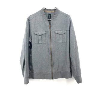 Howe Creative Workforce Pinstripe Zip Up Jacket